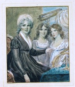 Miniature portrait group of Margaret Bryan and her daughters