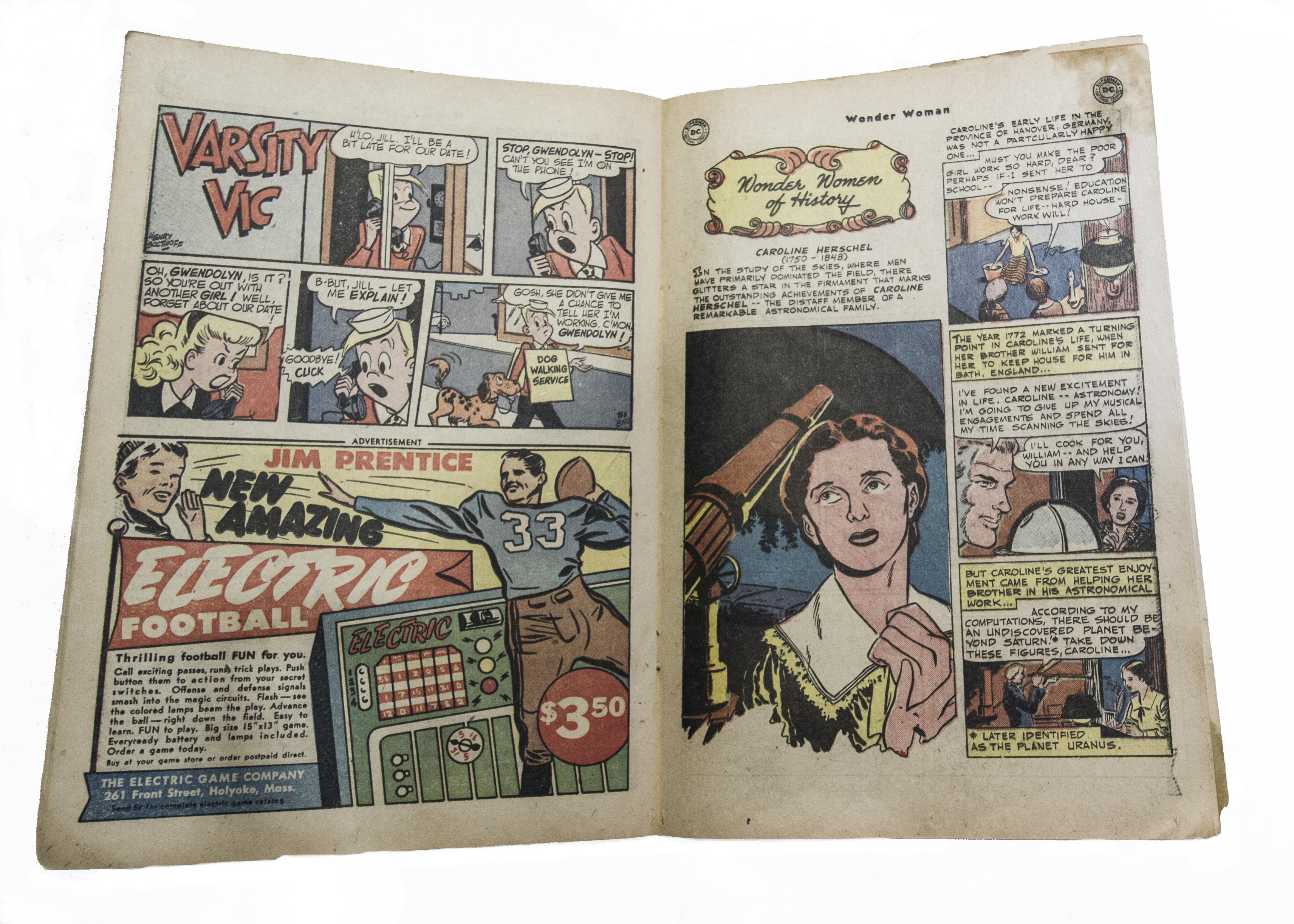 82a3e0ba13b3 Our current exhibition  Wonder Women of Science  features a comic book  about Caroline Herschel